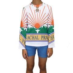 Seal Of Indian State Of Arunachal Pradesh  Kids  Long Sleeve Swimwear