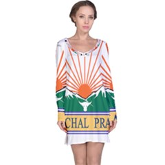 Indian State Of Arunachal Pradesh Seal Long Sleeve Nightdress