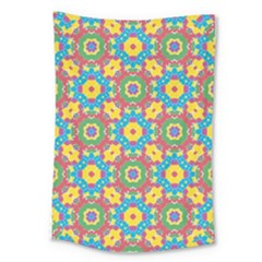 Geometric Multicolored Print Large Tapestry