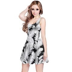 Feather Drawing Reversible Sleeveless Dress