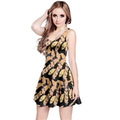 Golden Feather Reversible Sleeveless Dress