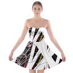 Art Strapless Bra Top Dress