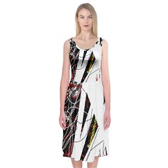 Art Midi Sleeveless Dress