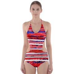 Art Cut-Out One Piece Swimsuit