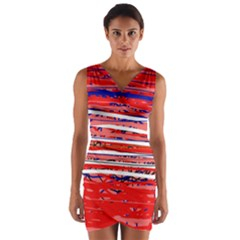 Art Wrap Front Bodycon Dress