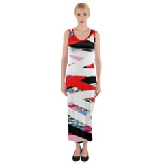 Art Fitted Maxi Dress