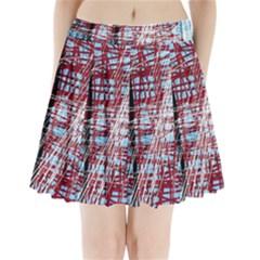 Art Pleated Mini Skirt