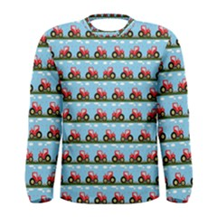 Toy Tractor Pattern Men s Long Sleeve Tee