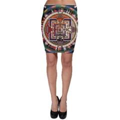 Colorful Mandala Bodycon Skirt