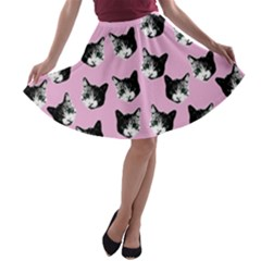 Cat pattern A-line Skater Skirt