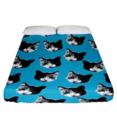 Cat Pattern Fitted Sheet (king Size)