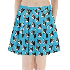 Cat pattern Pleated Mini Skirt