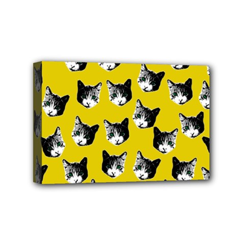 Cat pattern Mini Canvas 6  x 4