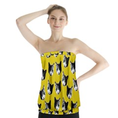 Cat pattern Strapless Top