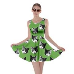Cat Pattern Skater Dress