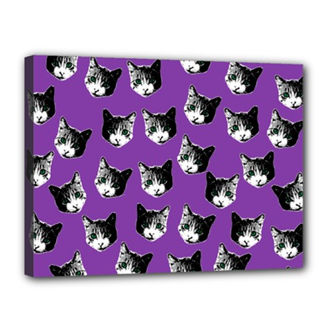 Cat pattern Canvas 16  x 12