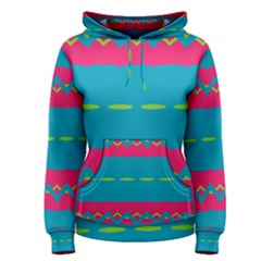 Blue green chains        Women s Pullover Hoodie