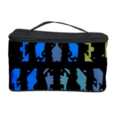 Blue shapes on a black background        Cosmetic Storage Case