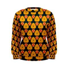 Yellow pink shapes pattern          Women s Sweatshirt