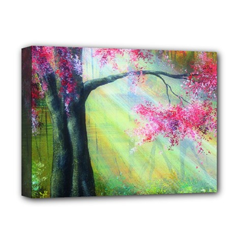 Forests Stunning Glimmer Paintings Sunlight Blooms Plants Love Seasons Traditional Art Flowers Deluxe Canvas 16  x 12