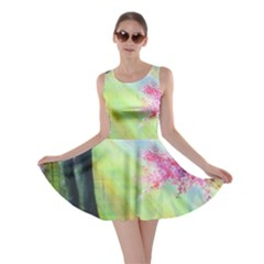 Forests Stunning Glimmer Paintings Sunlight Blooms Plants Love Seasons Traditional Art Flowers Skater Dress