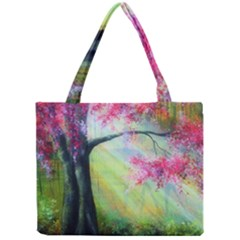 Forests Stunning Glimmer Paintings Sunlight Blooms Plants Love Seasons Traditional Art Flowers Mini Tote Bag
