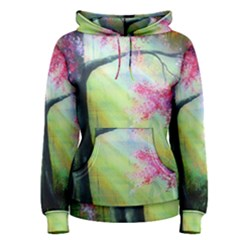 Forests Stunning Glimmer Paintings Sunlight Blooms Plants Love Seasons Traditional Art Flowers Women s Pullover Hoodie