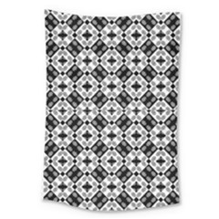 Geometric Modern Baroque Pattern Large Tapestry