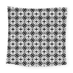 Geometric Modern Baroque Pattern Square Tapestry (large)