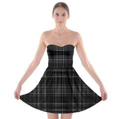 Plaid design Strapless Bra Top Dress