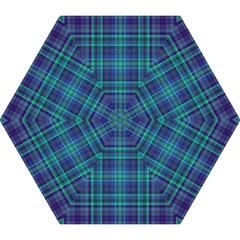 Plaid Design Mini Folding Umbrellas
