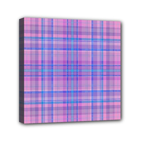 Plaid design Mini Canvas 6  x 6