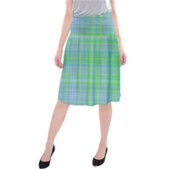 Plaid design Midi Beach Skirt