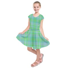 Plaid design Kids  Short Sleeve Dress