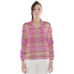 Plaid design Wind Breaker (Women)