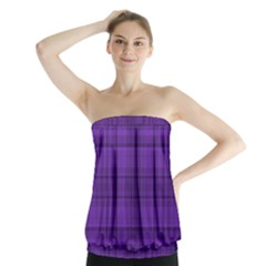 Plaid design Strapless Top