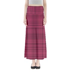 Plaid design Maxi Skirts