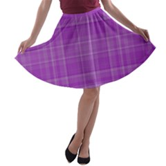 Plaid design A-line Skater Skirt