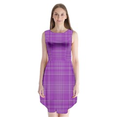 Plaid design Sleeveless Chiffon Dress