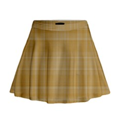Plaid design Mini Flare Skirt