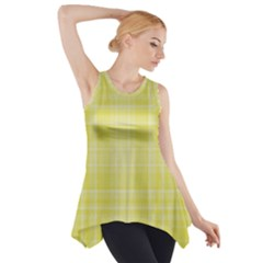 Plaid design Side Drop Tank Tunic