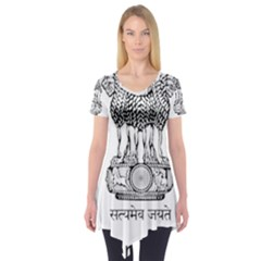 Seal Of Indian State Of Mizoram Short Sleeve Tunic