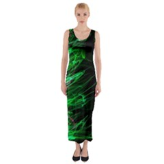 Fire Fitted Maxi Dress