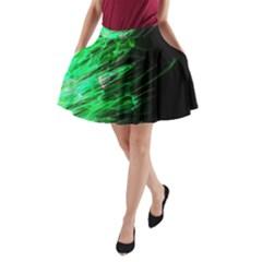 Fire A-Line Pocket Skirt