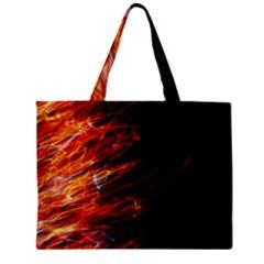 Fire Zipper Mini Tote Bag