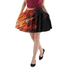 Fire A-Line Pocket Skirt