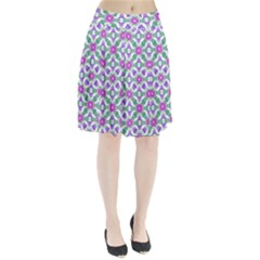 Multicolor Ornate Check Pleated Skirt