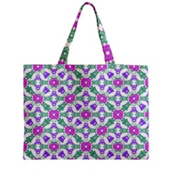 Multicolor Ornate Check Medium Tote Bag
