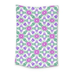 Multicolor Ornate Check Small Tapestry