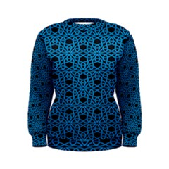 Triangle Knot Blue And Black Fabric Women s Sweatshirt